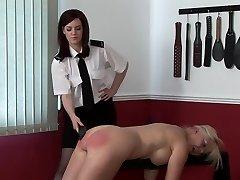 spanking mature damsel