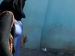 Arab mom with huge baps walk in street