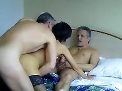 French mature loves trios with spouse and  buddy