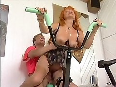 Sandy-haired mature Workout Love