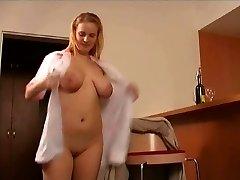 mature man pokes the hotel maid