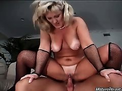 Very nasty and marvelous ash-blonde mature maid is still horny and