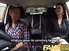 偽りの自動車学校busty黒少女に失敗した試験レズビアンの審査官
