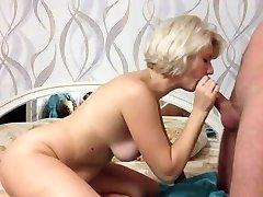 Beautiful blonde give  amazing fellatio