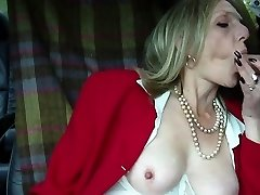 Hot mature blondie smoking blowjob