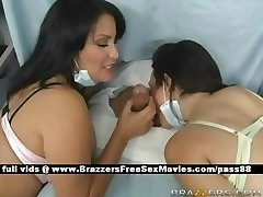 Two mature busty brunette nurses in hospital