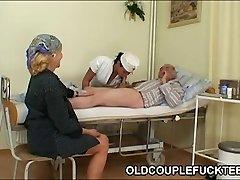 Grandpa fucks super-hot slutty nurse