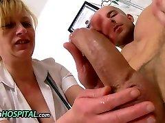 Euro milf doctor Gabina hj a young penis