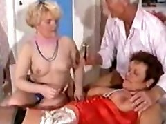 German Mature Threesome - Shaving, Handballing Anal
