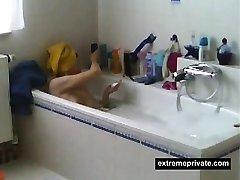 Spiedマ髭剃り彼女の滑りに天風呂