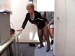Grandma in office