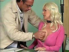 Busty German Mature Boning in Office