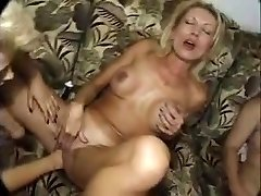 Seious going knuckle deep by three mature lesbians