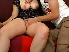 Amateur couple with busty blonde gets fisted and plowed rock-hard
