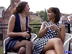 Brit les cougar fisted by ebony beauty
