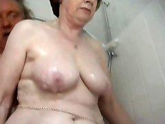 Super-sexy granny bathing