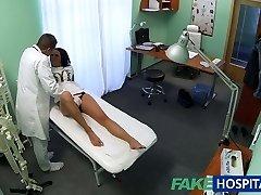 FakeHospital Hot black haired mom cheats on husband