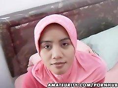 アラブアマチュアの奥様手作りのblowjob、弄顔