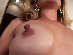 Small saggy tits with big puffies