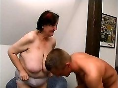 young guy smashes 70 yo gross fat granny oma