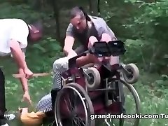 Granny gets coerced to sex