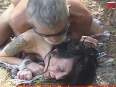 MILF MOM used a Fuck-a-thon Gimp in WOODS