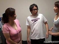 Asian AV Model is a naughty slut in mff threesome