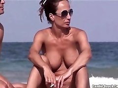 Nude Beach MILFs Coochie FROM SEXDATEMILF.COM Close Ups Spycam Voyeur