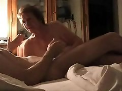 My silly aunt's best friend play with my cock. Covert web cam