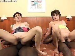Granny anal BBC orgy