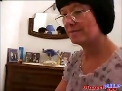 MILF with glasses gets drilled deep anal