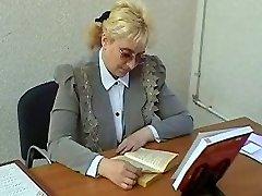 Buxom Granny in Glasses Sucks and Ravages
