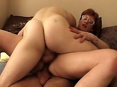 FRENCH MATURE IN GLASSES GET Dp'd by young fellows