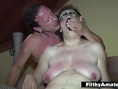 Mature tart take foot in pussy! Extreme orgy!