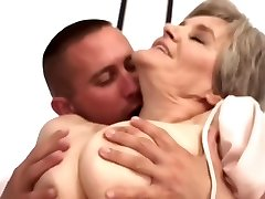 Old Mom Loves Young Boy...F70