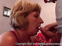 Mature ass to throat with spunk swallow