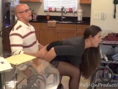 Fucking mommy in the kitchen