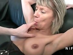 Burst french mature rock hard analized for her casting couch