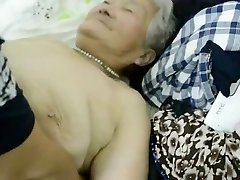 80yr old Chinese Grandmother Still gets Creamed (Uncensored)