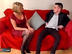 AgedLove Nice ash-blonde grandma is fucked by horny man