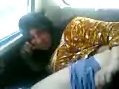 Arab Cougar sucking and fucking in a car