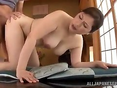 Mature Japanese Babe Uses Her Fuckbox To Satisfy Her Stud