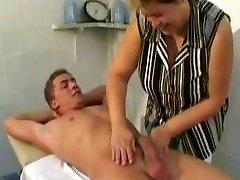 Mature Massage Thearpist Tears Up Client