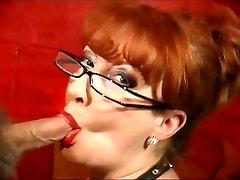 Redhead Mature showcase her Oral Skills