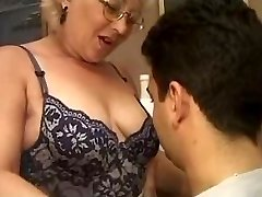 Mature Italian teacher with student