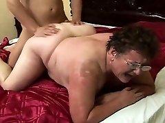 sweaty fat grannie rear pussy fucked