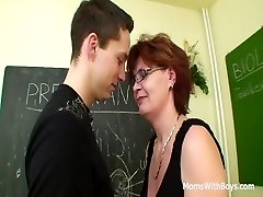 Ginger-haired Mature Teacher Sex In Detention Class