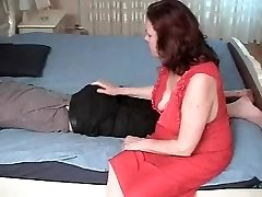 Stepmother with saggy knockers & guy have a position 69