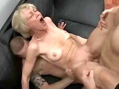 Totally Promiscuous Granny Loves To Take Young Cocks And Jizz !