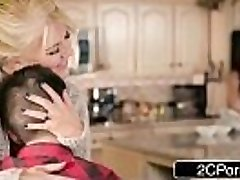 Silly Boy Gets Lucky With Mummy'_s Hot Pal Ariella Ferrera